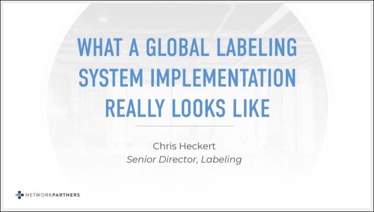 Global Label System Screenshot